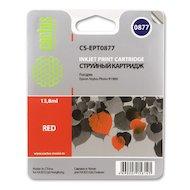 Картридж струйный Cactus CS-EPT0877 совместимый красный для Epson Stylus Photo R1900 (13,8ml)