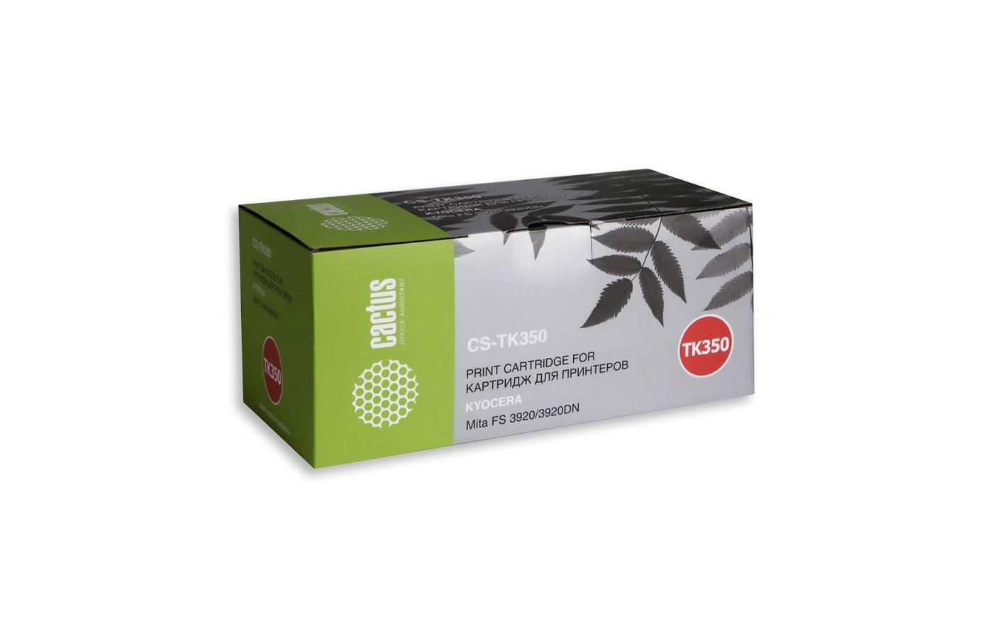 Картридж лазерный Cactus CS-TK350 совместимый черный для Kyocera Mita FS 3920/3920DN (15000стр.)