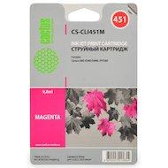 Фото Картридж струйный Cactus CS-CLI451M совместимый пурпурный для Canon MG 6340/5440/IP7240 (9,8ml)