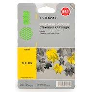 Фото Картридж струйный Cactus CS-CLI451Y совместимый желтый для Canon MG 6340/5440/IP7240 (9,8ml)