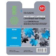 Фото Картридж струйный Cactus CS-CLI521C совместимый голубой для Canon MP540, MP550, MP620, MP630, MP640, MP660 (446стр.)