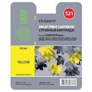 Фото Картридж струйный Cactus CS-CLI521Y совместимый желтый для Canon Pixma MP540/MP550/MP620/MP630 MX860 (8.2ml)