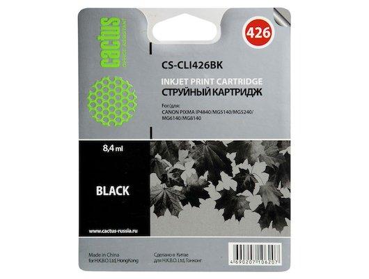 Картридж струйный Cactus CS-CLI426BK совместимый черный для Canon MG5140 5240 6140 8140 MX884 (8,2ml)
