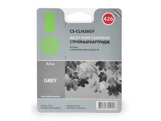 Картридж струйный Cactus CS-CLI426GY совместимый серый для Canon Pixma MG6140/MG8140 (8,2ml)