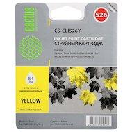 Картридж струйный Cactus CS-CLI526Y совместимый желтый для Canon iP4850/MG5250/MG5150/iX6550 (8,2ml)