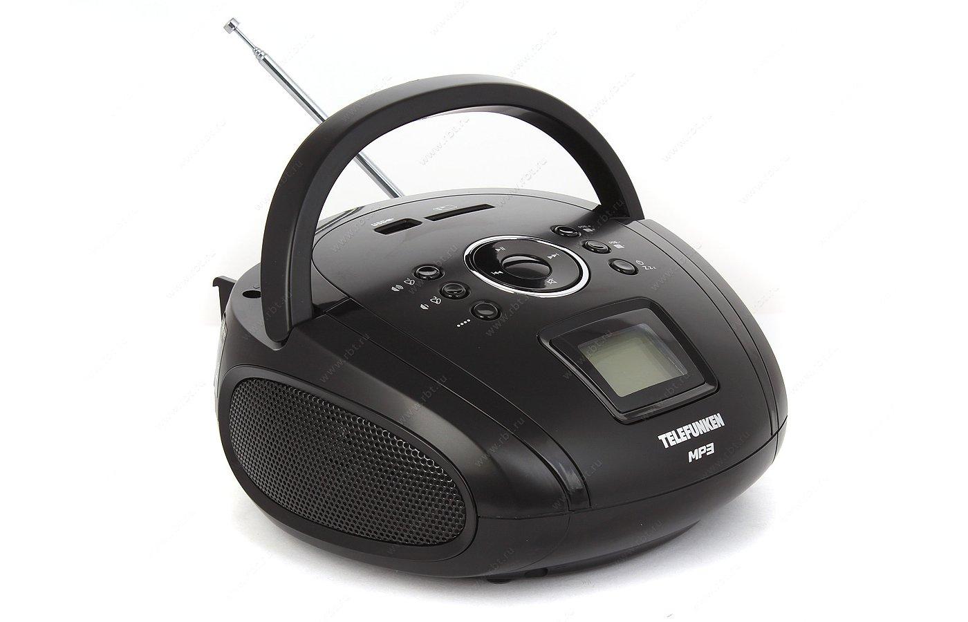 Магнитола Telefunken TF-SRP3449 черный