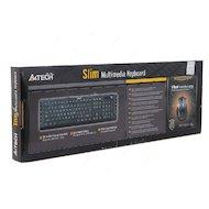 Фото Клавиатура проводная A4Tech KD-600 черный USB slim Multimedia