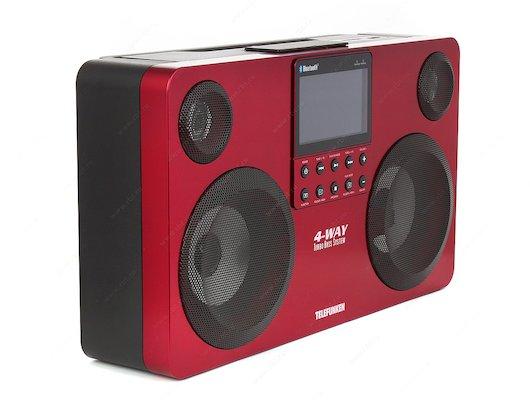 Магнитола Telefunken TF-SRP3470B красный