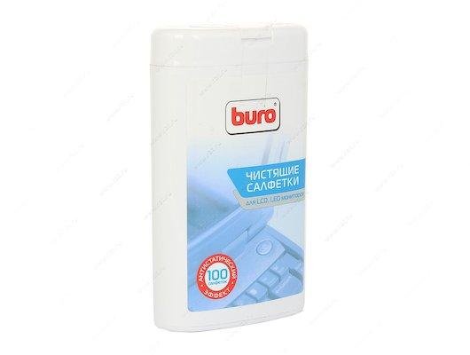 Чистящее средство BURO (817436) малая туба с чистящ.салф. для LCD TFT-мон. 100 ш