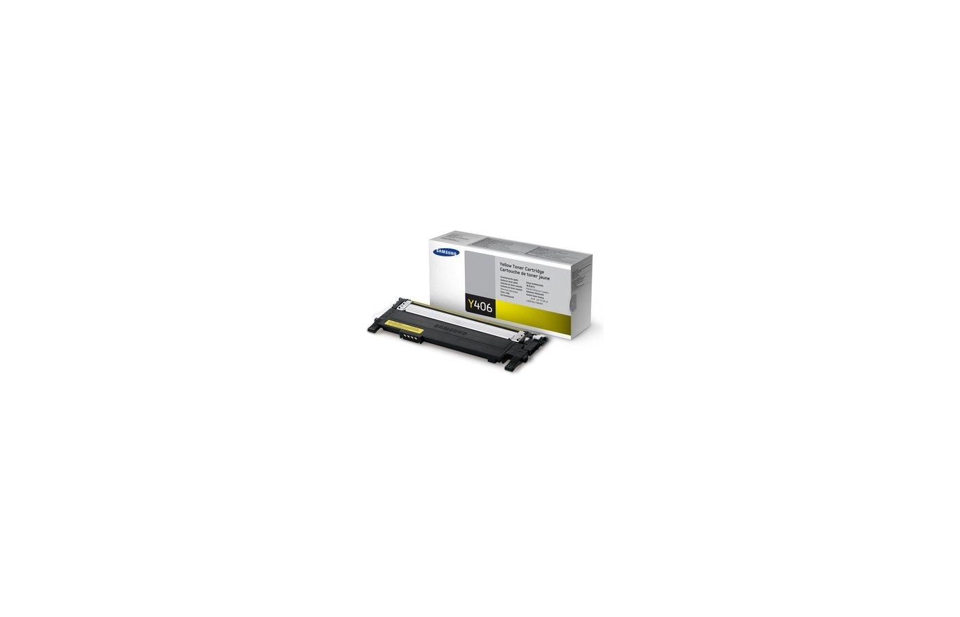 Картридж лазерный Samsung CLT-Y406S желтый для LP-360/365/368, CLX-3300/330 (1000стр.)