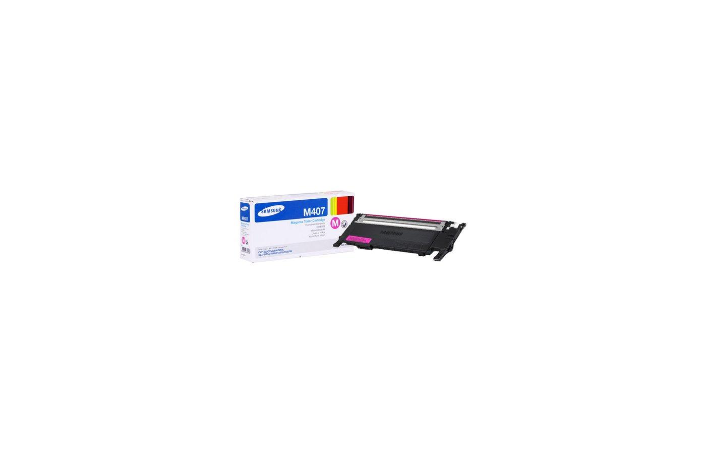 Картридж лазерный Samsung CLT-M407S пурпурный для CLP-320/320N/325 / CLX-3185/3185N/3185FN (1000стр.)