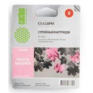 Картридж струйный Cactus CS-CLI8PM совместимый пурпурный для Canon MP970 iP6600D iP6700D Pro9000 (12ml)