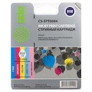 Картридж струйный Cactus CS-EPT0084 совместимый цветной для Epson Photo 785 790 870 875 890 (6.4*5ml)