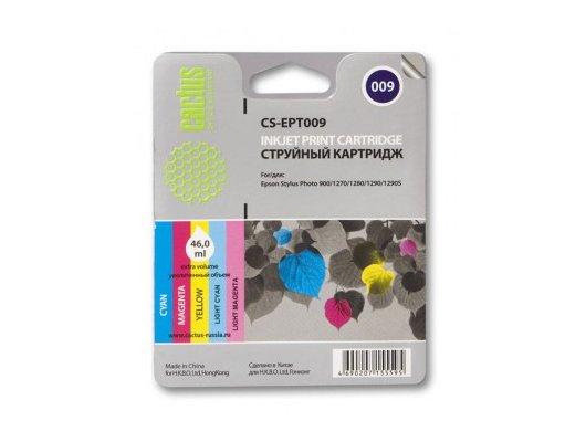 Картридж струйный Cactus CS-EPT009 совместимый фото цветной для Epson Stylus Photo 1270/1290 (46ml)