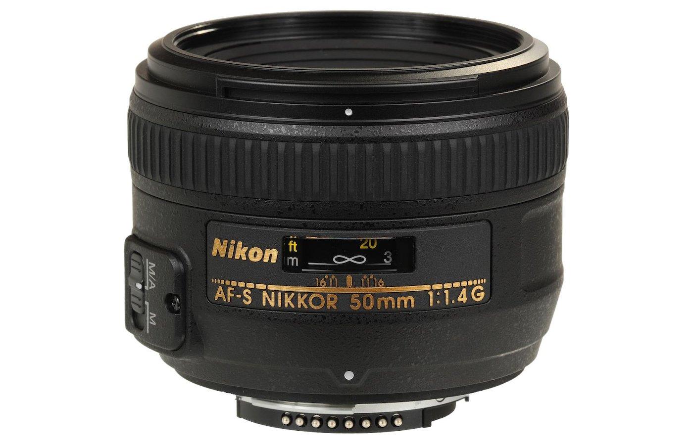 Объектив Nikon 50mm f/1.4D AF-S Nikkor (JAA011DB)