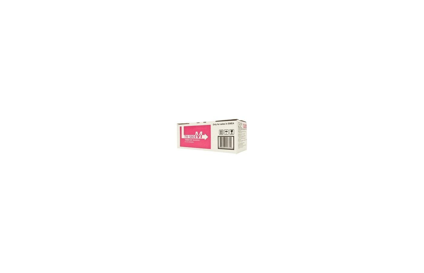 Картридж лазерный Kyocera TK-580M пурпурный для FS-C5150DN (2 800 стр) 1T02KTBNL0