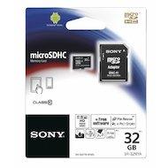 Карта памяти Sony microSDHC 32Gb Class 10 + адаптер (SR32NYAT)