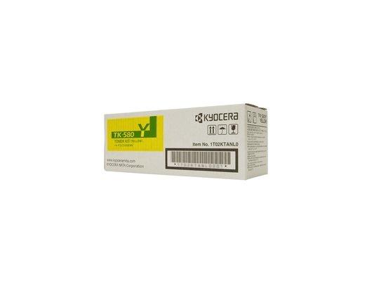 Картридж лазерный Kyocera TK-580Y желтый для FS-C5150DN (2 800 стр) 1T02KTANL0