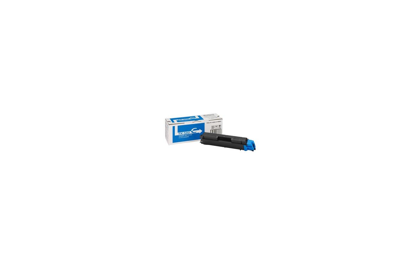 Картридж лазерный Kyocera TK-580C голубой, для FS-C5150DN (2 800 стр) 1T02KTCNL0