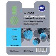 Картридж струйный Cactus CS-EPT0485 совместимый светло-голубой для Epson Stylus Photo R200/ R220/ R300 (14,4ml)