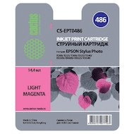 Картридж струйный Cactus CS-EPT0486 совместимый светло-пурпурный для Epson Stylus Photo R200/ R220/ R300 (14,4ml)