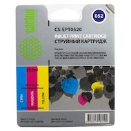 Фото Картридж струйный Cactus CS-EPT0520 совместимый цветной для Epson Stylus Color 400/ 440/ 460/ 600/ 640 (8*3ml)