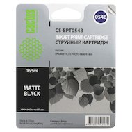 Картридж струйный Cactus CS-EPT0548 совместимый черный матовый для Epson Stylus Photo R800/ R1800 (16,2ml)
