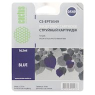 Картридж струйный Cactus CS-EPT0549 совместимый синий для Epson Stylus Photo R800/ R1800 (16,2ml)