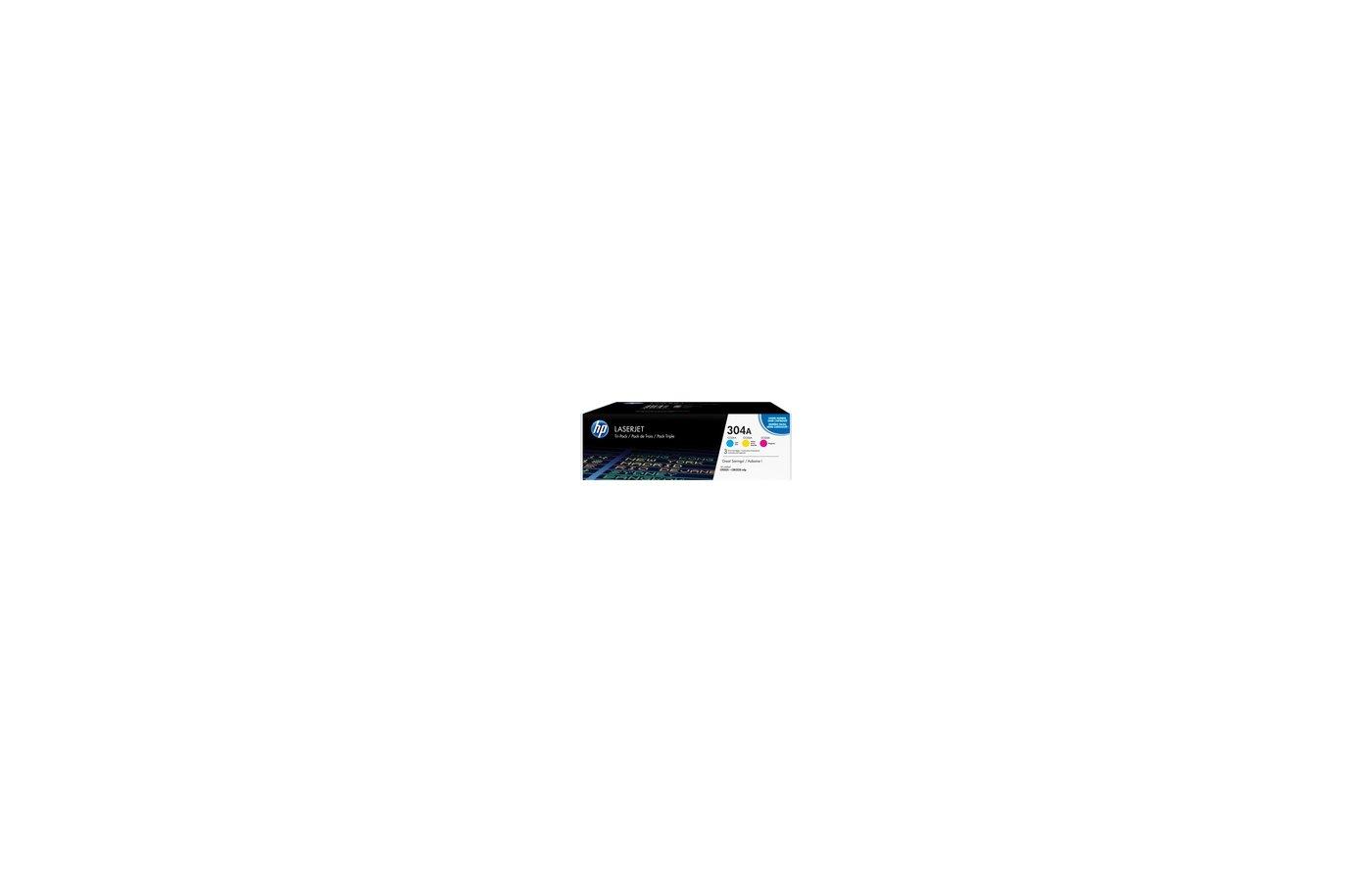 Картридж лазерный HP CF372AM 304A комплект цветных картр CLJ 2025, CM2320 (CC531A+CC532A+CC533A)