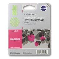 Картридж струйный Cactus CS-EPT0593 совместимый пурпурный для Epson Stylus Photo R2400 (14,8ml)