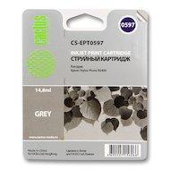 Картридж струйный Cactus CS-EPT0597 совместимый серый для Epson Stylus Photo R2400 (14,8ml)