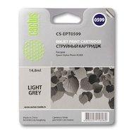 Картридж струйный Cactus CS-EPT0599 совместимый светло-серый для Epson Stylus Photo R2400 (14,8ml)