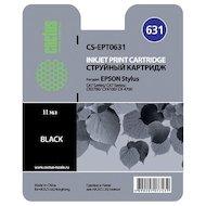 Картридж струйный Cactus CS-EPT0631 совместимый черный для Epson Stylus C67 Series/ C87 Series/ CX37000 (10ml)