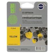 Картридж струйный Cactus CS-EPT0634 совместимый желтый для Epson Stylus C67 Series/ C87 Series/ CX3700 (10ml)