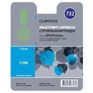 Картридж струйный Cactus CS-EPT0732 совместимый голубой для Epson Stylus С79/ C110/ СХ3900/ CX4900 (11,4ml)