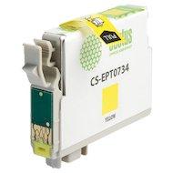 Фото Картридж струйный Cactus CS-EPT0734 совместимый желтый для Epson Stylus С79/ C110/ СХ3900/CX4900/CX5900 (11,4ml)