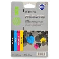 Картридж струйный Cactus CS-EPT0735 совместимый многоцветный для Epson Stylus С79/C110/СХ3900 Комплект цветных картрид