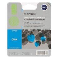 Картридж струйный Cactus CS-EPT0802 совместимый голубой для Epson Stylus Photo P50 (11,4ml)