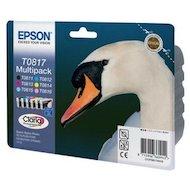 Картридж струйный Epson C13T11174A10 T0817 bl+cy+mag+yell+l-mag+l-голубой (замена C13T08174A)