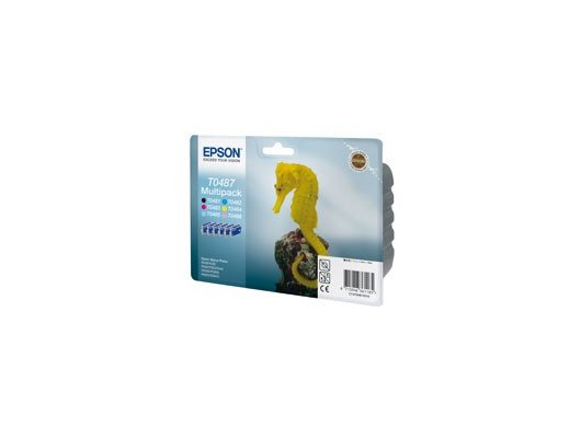 Картридж струйный Epson C13T04874010 черный+голубой+пурпурный+желтый+светло-пурп.+светло-голуб.