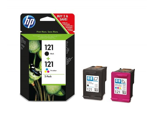 Картридж струйный HP 121 CN637HE черный/трехцветный для Deskjet D2500, HP Deskjet D2530, HP DeskJet F4200