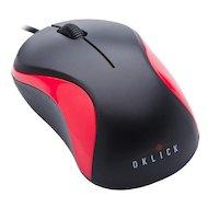 Мышь проводная Oklick 115S черный/красный оптическая (1000dpi) USB для ноутбука (2but)