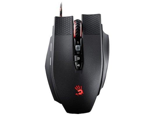 Мышь проводная A4Tech Bloody Terminator TL9 черный/серый лазерная (8200dpi) USB2.0 игровая (8but)
