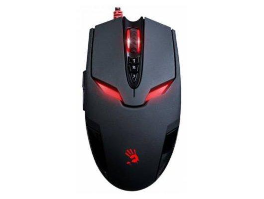 Мышь проводная A4Tech Bloody V4M черный оптическая (3200dpi) USB игровая (7but)