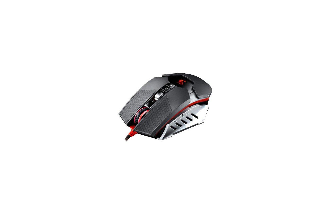 Мышь проводная A4Tech Bloody T5 Winner черный/серый оптическая (4000dpi) USB2.0 игровая (8but)