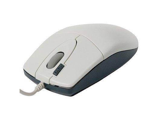 Мышь проводная A4Tech OP-620D белый/синий