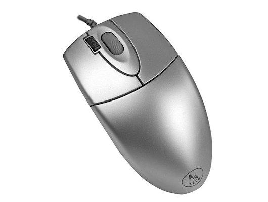 Мышь проводная A4Tech OP-620D серебристый оптическая (800dpi) USB (3but)