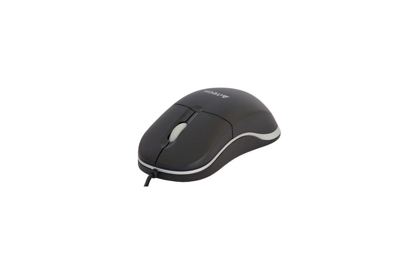 Мышь проводная A4Tech OP-329 черный оптическая (800dpi) USB1.1 (2but)