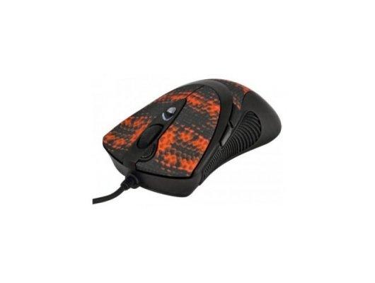 Мышь проводная A4Tech V-Track F7 черный/красный лазерная (3000dpi) USB игровая (6but)