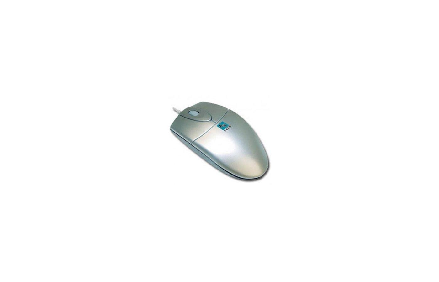 Мышь проводная A4Tech OP-720 серебристый оптическая (800dpi) PS/2 (2but)